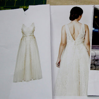 Bridesmaid gown reference photo.