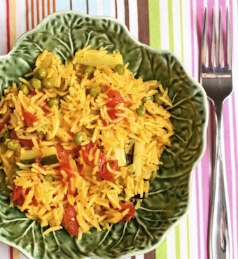 vegetarian basmati rice