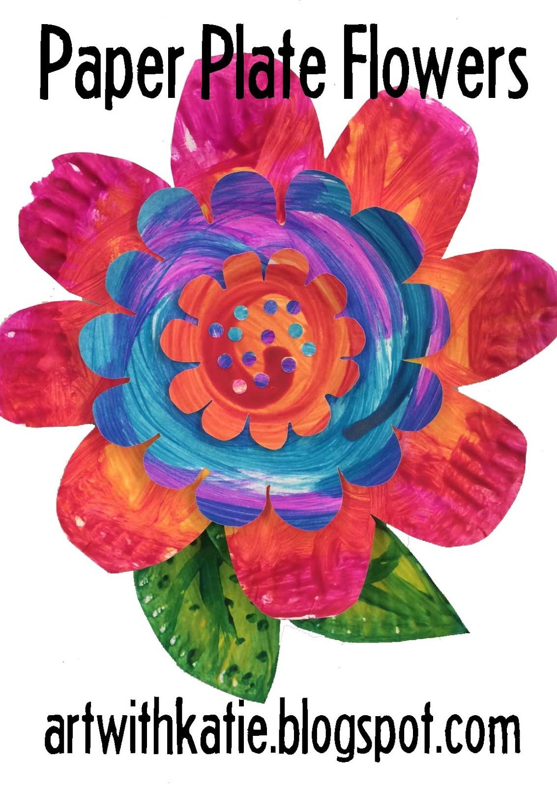 art for kids paper plate flowers