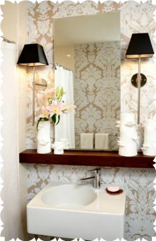 küçük tuvalet dekorasyonu