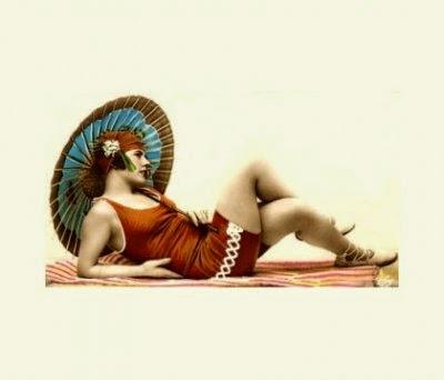 1920s shortini swimsuit