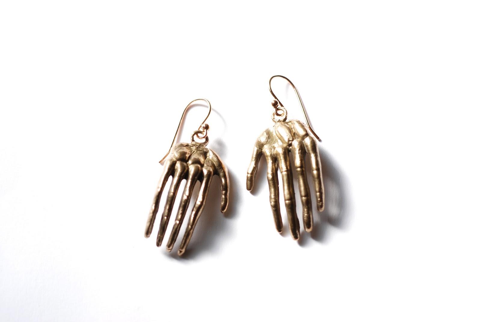 hester crown jewelry skeleton earrings