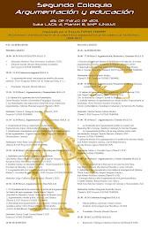 Programa del Segundo Coloquio Argumentación y educación