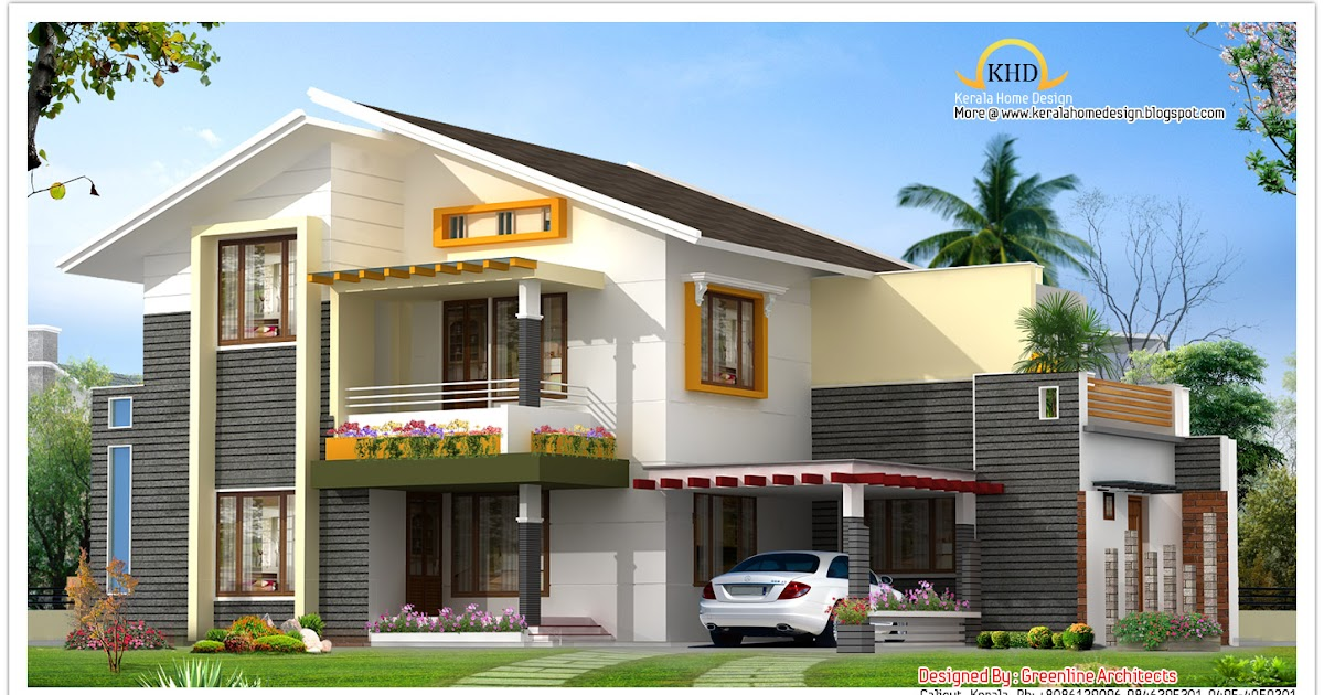 beautiful villa elevation - 1850 sq  ft