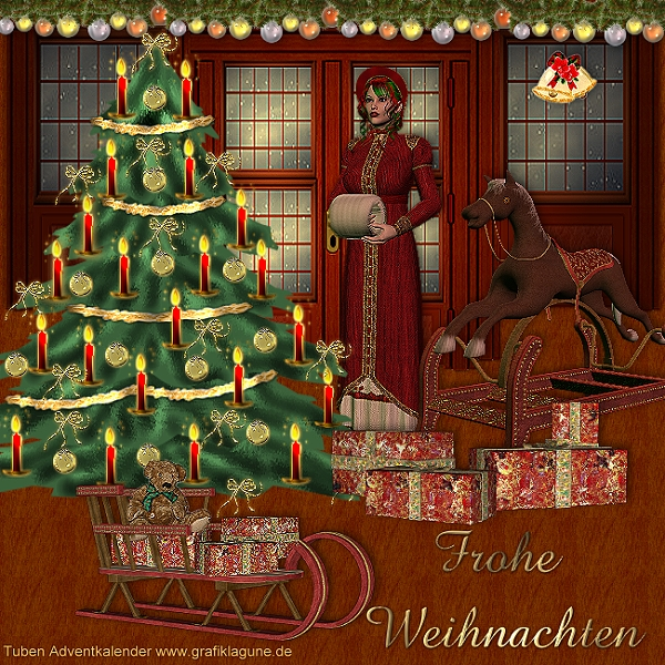 Frohe Weihnachten unten in meinem Herzen