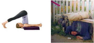 Yoga Positions Vs Liquor Positions Halasana+yoga