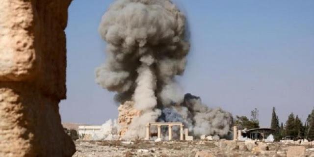 Jet Tempur Rusia Bombardir Kota Kuno Palmyra di Suriah