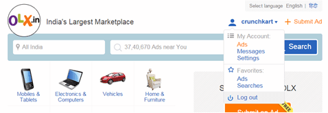 OLX ads Account
