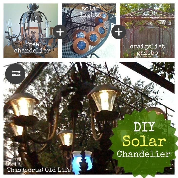Enchanted garden series best ideals to add mystery and for Solar light chandelier diy