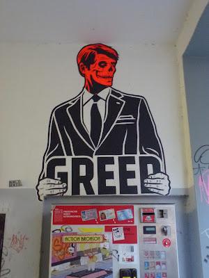 GREED || Paste-Up || Großaufnahme || Reichenbachstraße || München