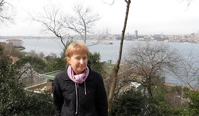 """Оксана Лупич, вид на правобережье столицы бывшей Османской империи, Стамбул, из мусульманской части города. По одной из версий, искусство живописи на воде """"эбру"""" родилось именно в Турции."""