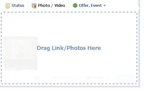 Drag Links + Photos to FB Post