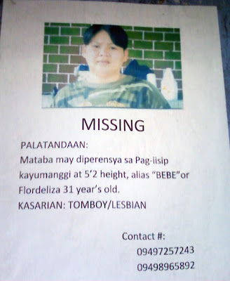 lost lesbian, tomboy, missing