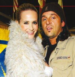 Julieta Prandi junto a Claudio Contardi