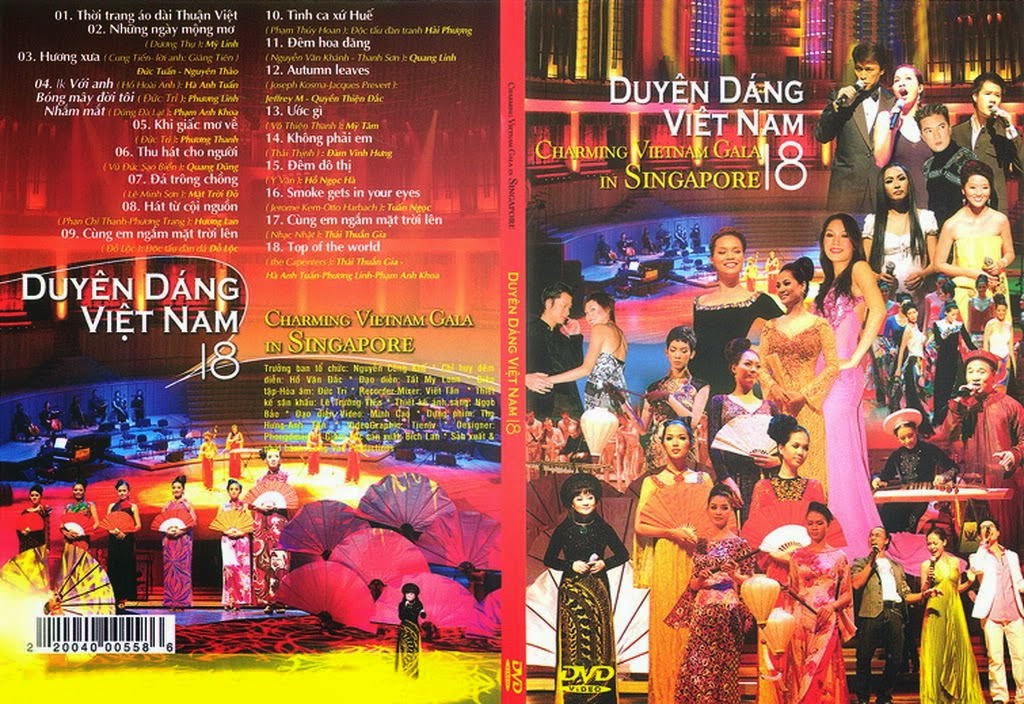 Duyên Dáng Việt Nam 18 - Charming Vietnam Gala In Singapore (2007) [DVD5.ISO]