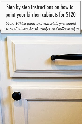 Painted new 120 kitchen cabinet makeover for Best brush for painting kitchen cabinets
