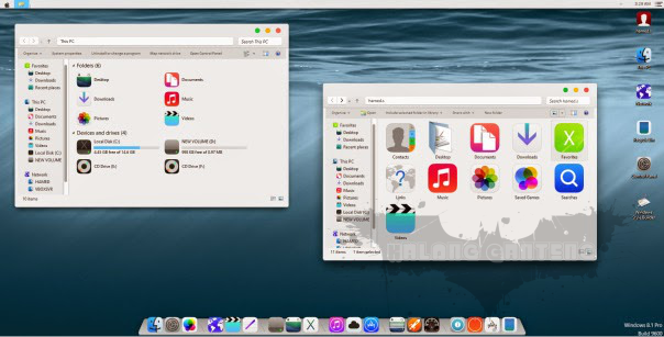 Screenshot Tema iOS8 Skin Pack Windows 8/8.1