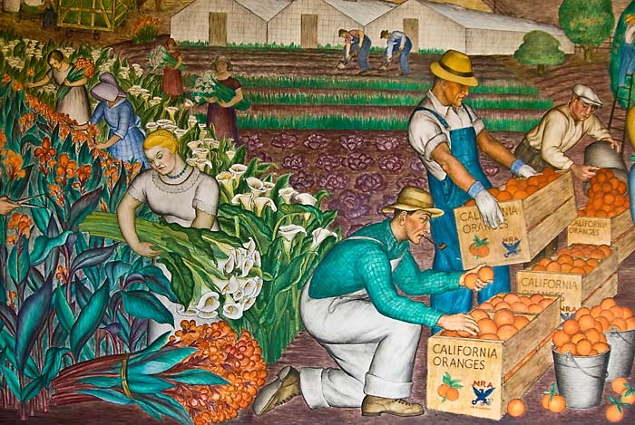 Topaz diaries wpa coit tower murals for Coit tower mural