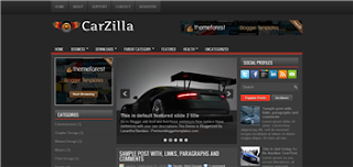 CarZilla Blogger Template is a free and premium template, its good for car, automobile and automotive related blogger blog