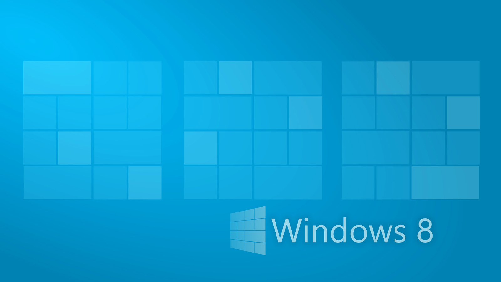 Blauen Windows 8 desktopmotive
