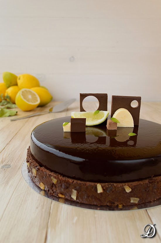Tarta de Chocolate, Limón y Toffee de Regaliz