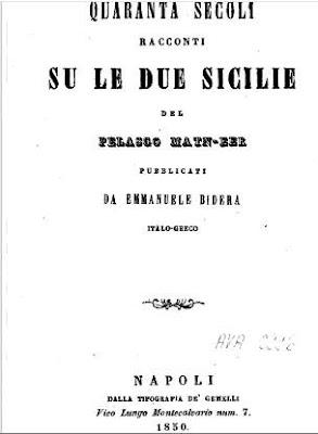 Gli Arbëreshë arrivarono come fecero i Pelasgi albanesi 4000 anni fa; i Greci non hanno capito i miti in lingua pelasgo albanese - E. Bidera (1850)