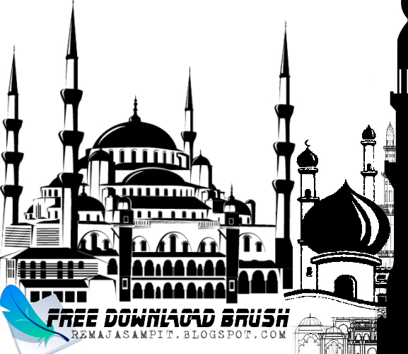 Brush Masjid Photoshop
