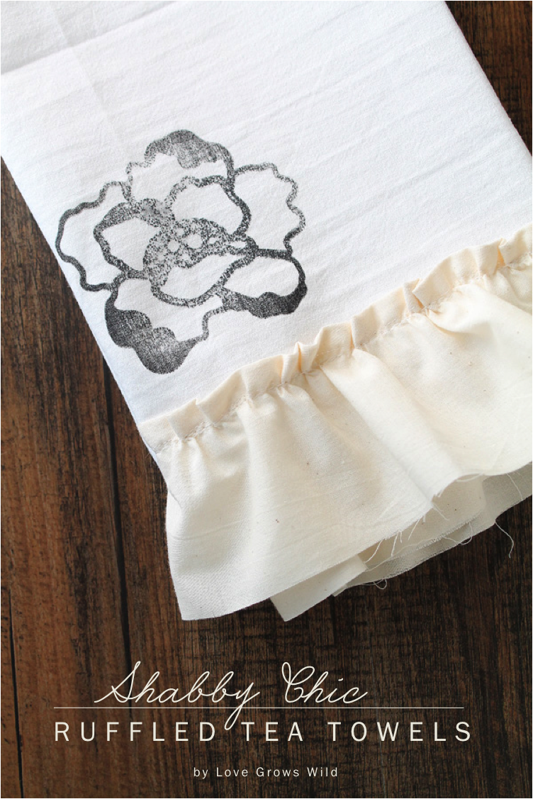 Give Ordinary Tea Towels A Gorgeous Shabby Chic Look With Stamps And  Ruffles! These Would