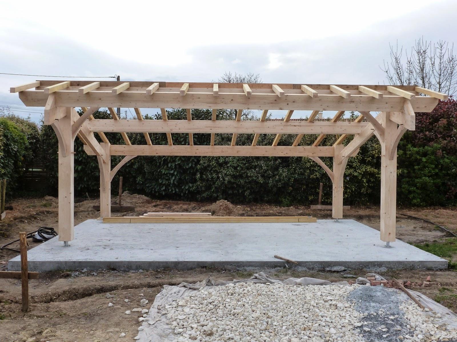 Abris de jardin bois Carport voitures bois Garage Bois Auvent voiture bois # Montage Carport Bois