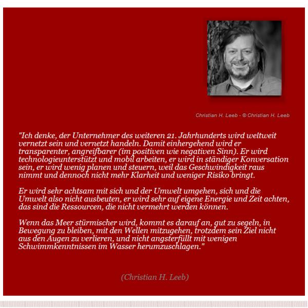AustrianEntrepreneurs.com - Unternehmer-Zitat: Christian H. Leeb
