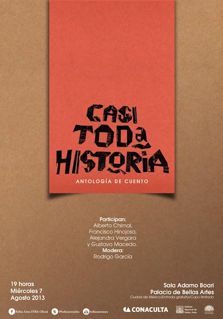 """Presentación del libro """"Casi toda historia"""" con textos generados en Twitter"""