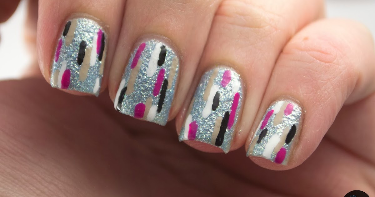 Line Texture On Nails : Hey darling polish line art