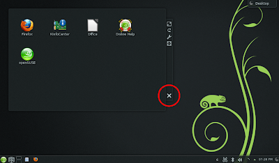 openSUSE 12.3 - Removing the floating frame