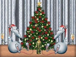 Štakori slave Novu godinu download besplatne pozadine slike za mobitele