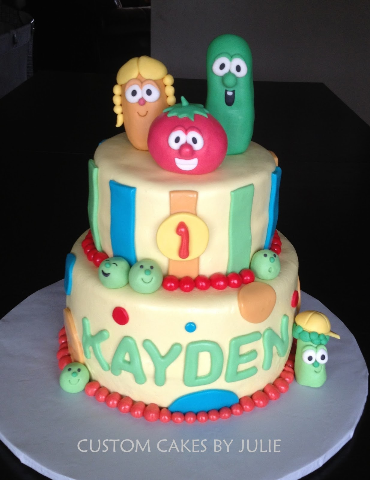 Custom Cakes By Julie Veggie Tales Cake