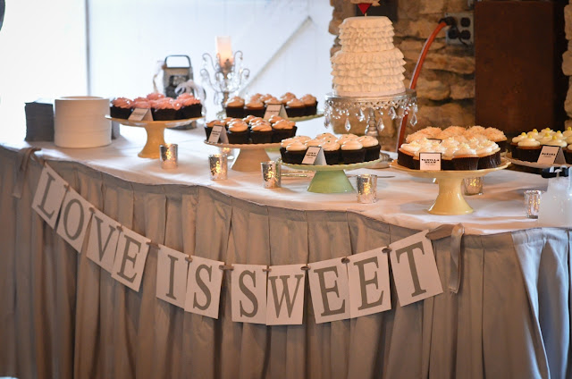 Rochester Wedding Cupcake Table
