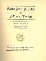 Saint Joan of Arc Title Page