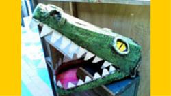 maschera coccodrillo