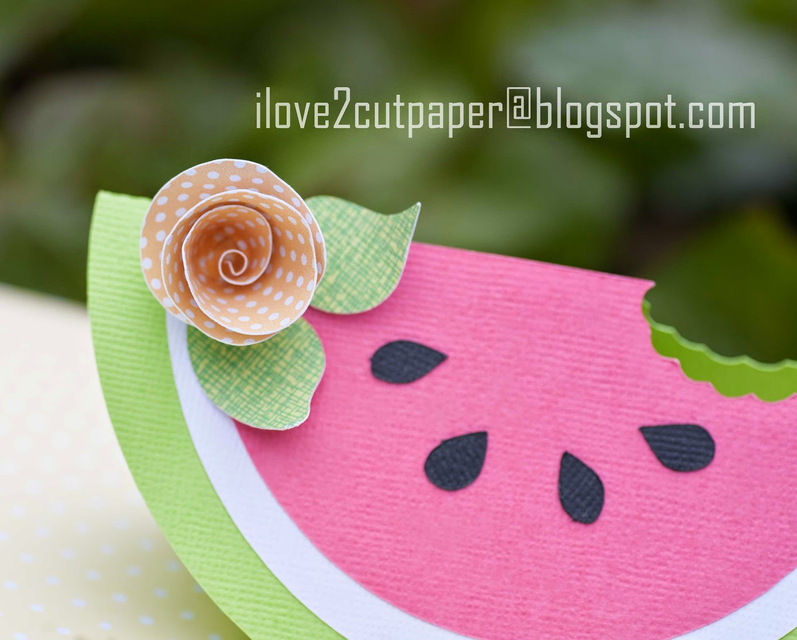Using digital papers to cut out flower