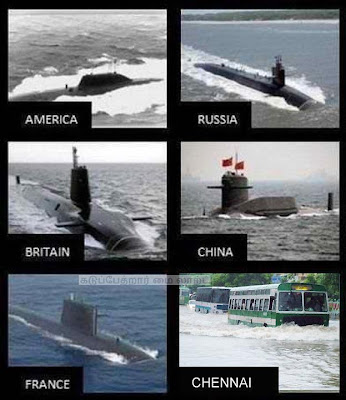 Submarines in different Countries Vs Submarine in India