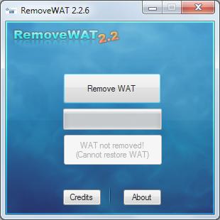 RemoveWAT 2.2.6 – Haz original cualquier Versión de Windows 7