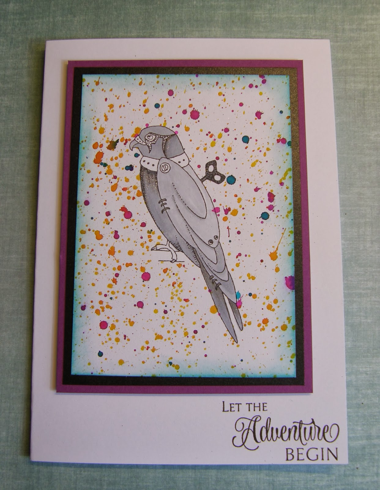Chocolate Baroque Design Team Grey Parrot With Splattered