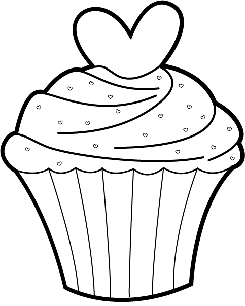 Dibujos Para Colorear Dulces Y Postres on Cupcakes Coloring Print Images About Tekenen On