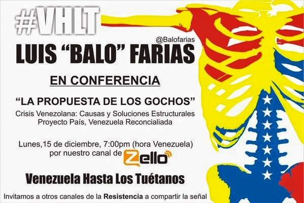 """Conferencia """"La Propuesta de los Gochos"""" del Dr. Luis """"Balo"""" Farías"""