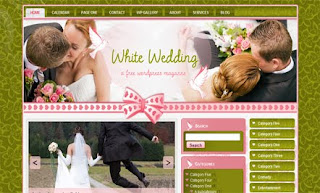 White Wedding WordPress Template