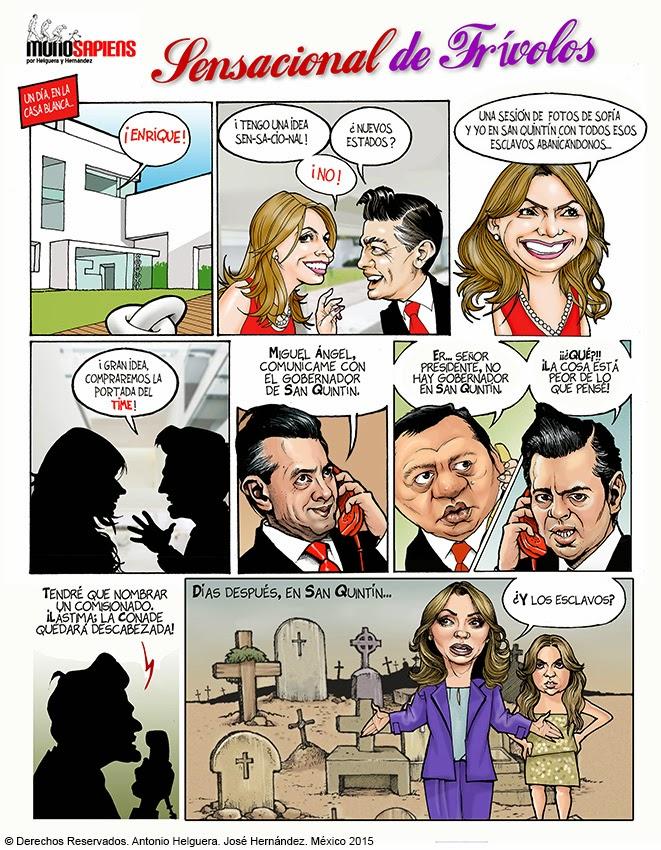 """Caricaturas Politicas: Cómic Peña Nieto y la """"Gaviota"""": Un ..."""