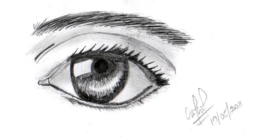 Dibujos de ojos con lapiz - Imagui