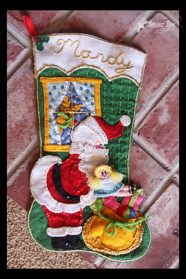 Intricate Felt Stockings - Sugar Bee Crafts