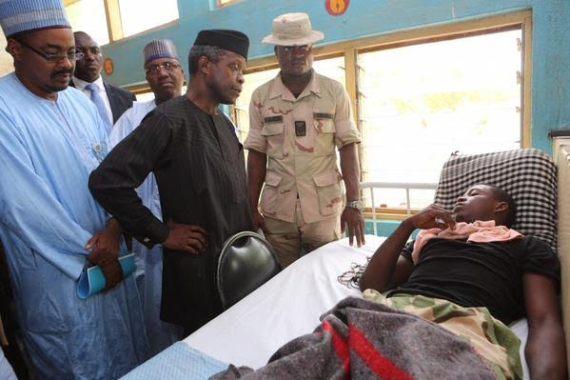 Photo: VP Osinbajo Visited Injured Soldiers In Adamawa Hospital