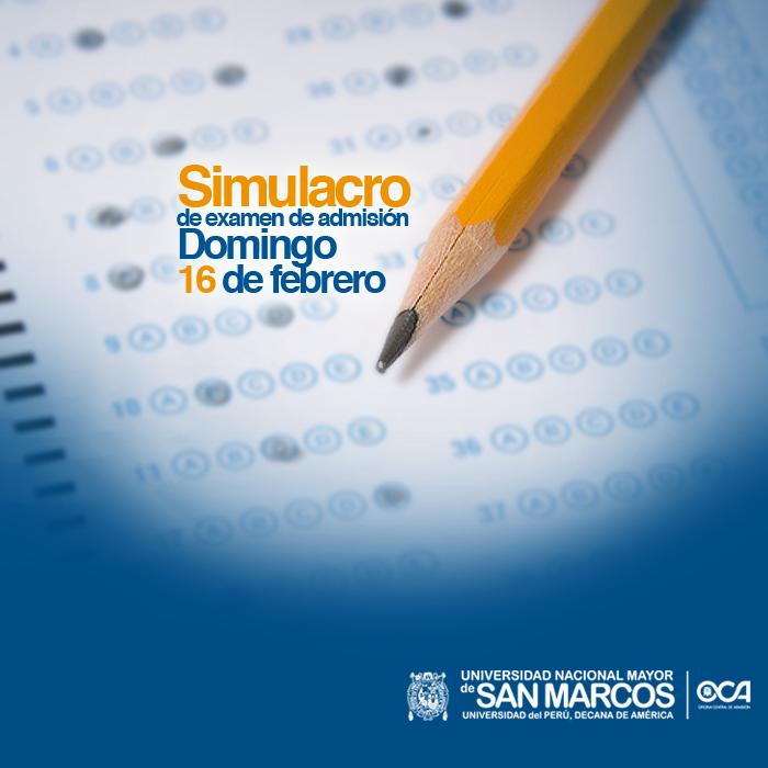 Resultados Simulacro San Marcos 2015-I UNMSM 17 de Agosto 2014